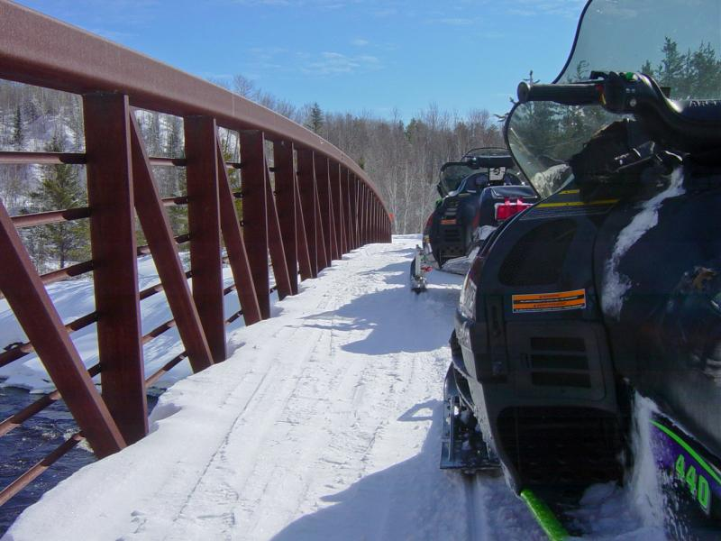 Finlayson Snowmobile Bridge